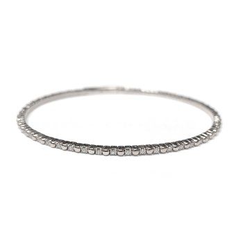 14k White Gold Flexible Tennis Bracelet