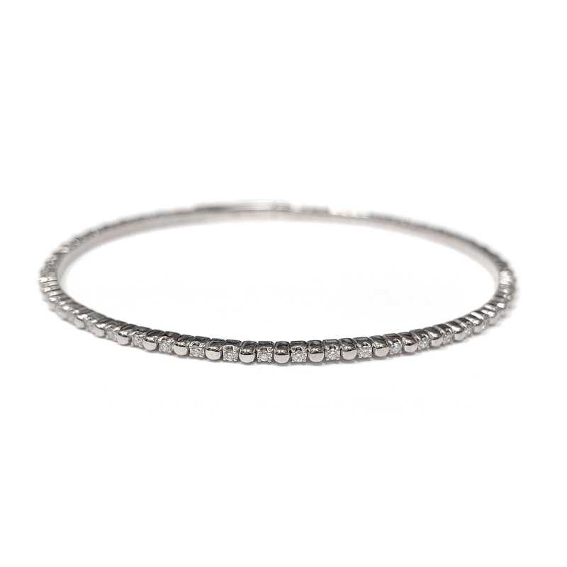 IDD Jewelry 14k White Gold Flexible Tennis Bracelet