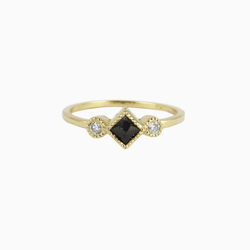 Jennie Kwon Black Diamond Ike Ring