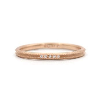 Clover Milgrain Diamond Band