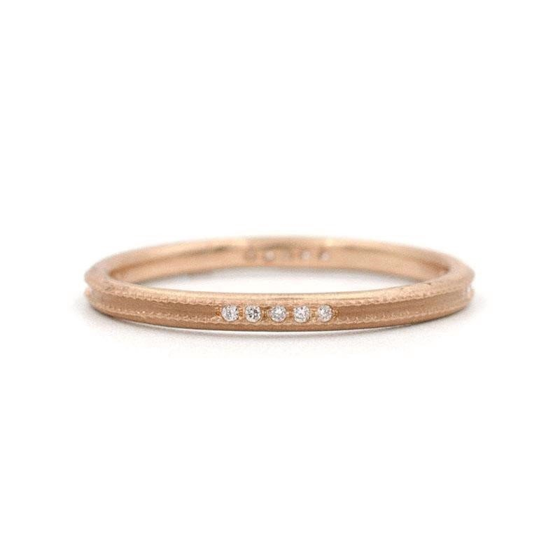 Jennifer Dawes Design Clover Milgrain Diamond Band