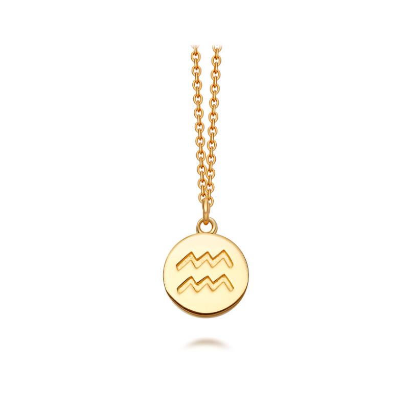 Astley Clarke Aquarias Zodiac Necklace