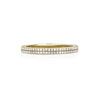 Diamond Double Eternity Band Ring