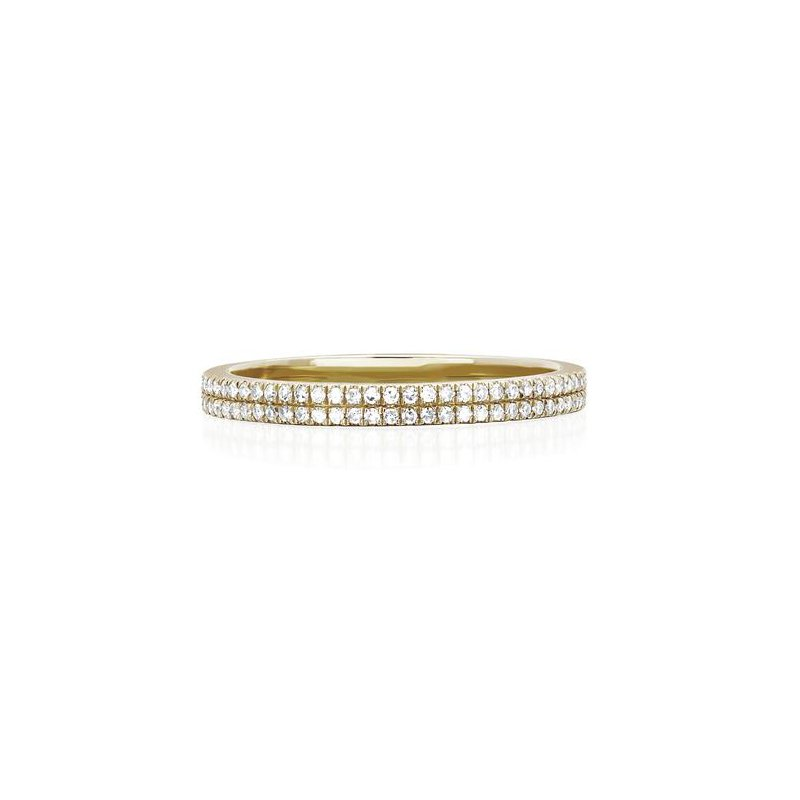 EF Collection Diamond Double Eternity Band Ring