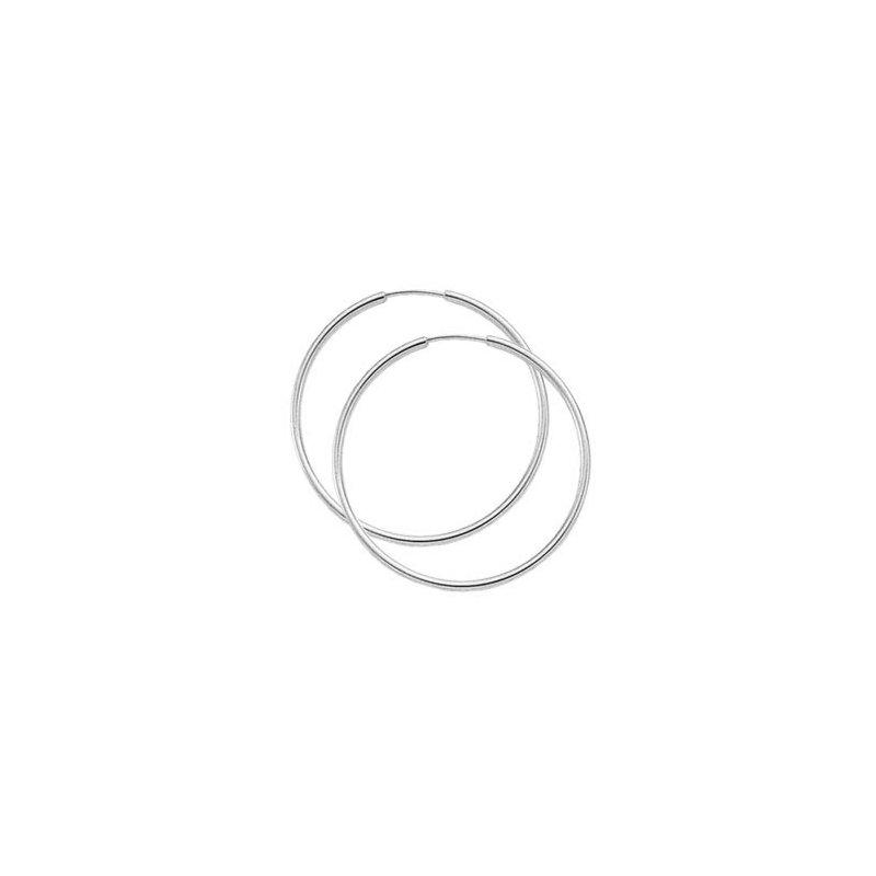 Carla Nancy B White Gold Endless Hoop Earrings - 40mm