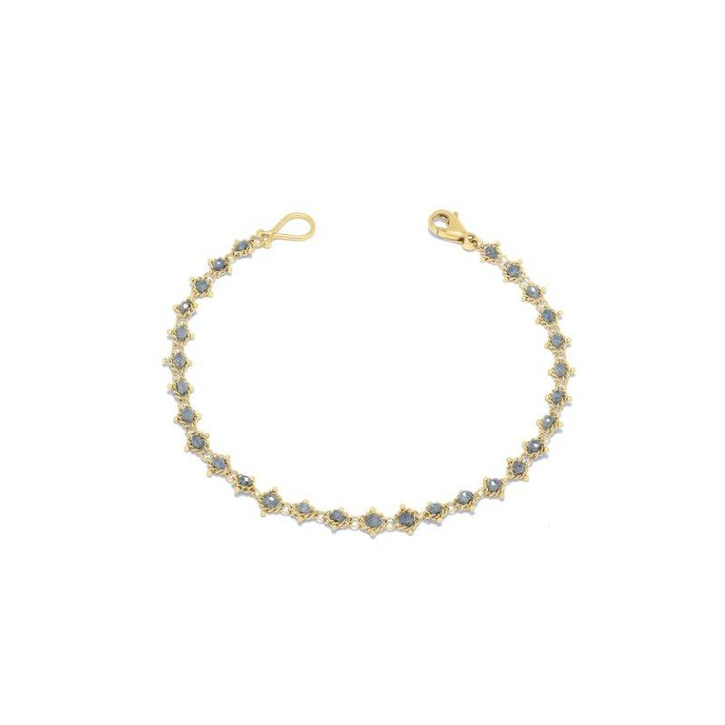 Amali Textile Bracelet in Grey Diamond