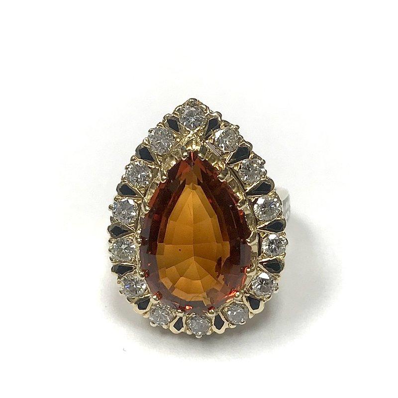 Antique, Estate & Consignment Citrine and Diamond Ring