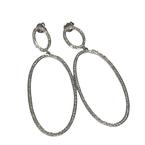 Getana Oval Diamond Drop Earrings
