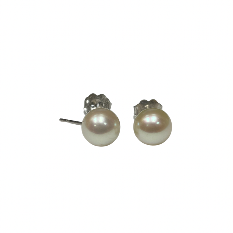 Antique, Estate & Consignment 7.5mm Pearl Stud Earrings