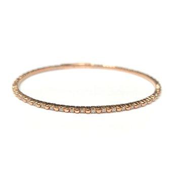 14k Rose Flexible Diamond Bracelet