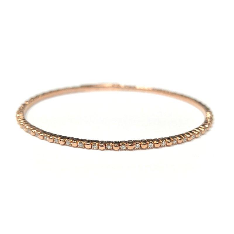 IDD Jewelry 14k Rose Flexible Diamond Bracelet