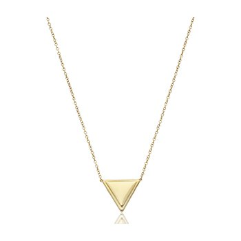 Puffed Triangle Necklace