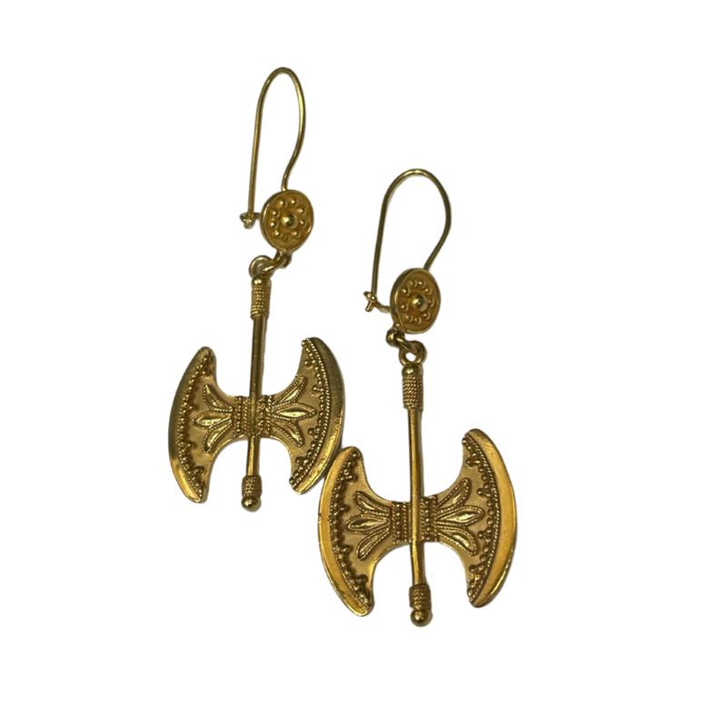 Antique, Estate & Consignment Golden Axe Earrings