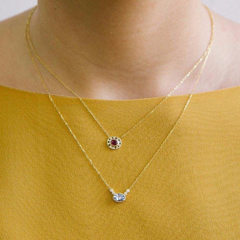Jennie Kwon Ceylon Sapphire Dew Necklace