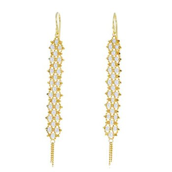 Textile Pearl Weave Earrings
