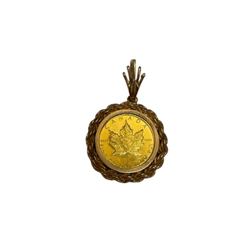 Canadian Maple Leaf Coin Pendant