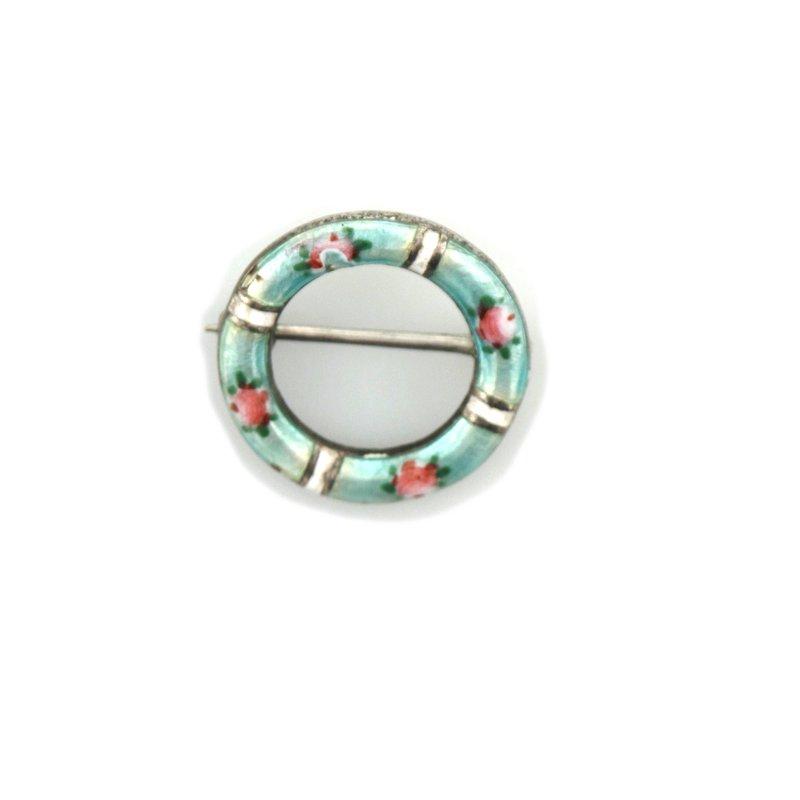 Antique, Estate & Consignment Enamel Circle Pin