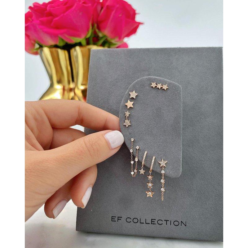 EF Collection Diamond Star Stud Earring