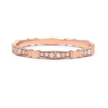 Imogen Diamond Wedding Band Rose Gold