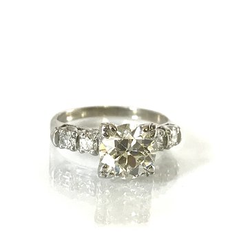 Old European Cut Engagement Ring