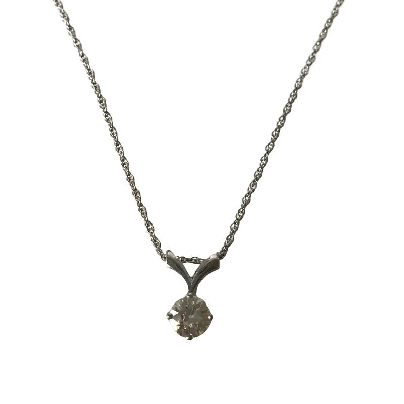 Antique, Estate & Consignment 0.72 Carat Diamond Solitaire Necklace