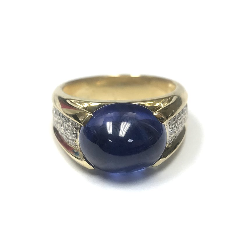 Antique, Estate & Consignment Cabochon Sapphire & Diamond Ring