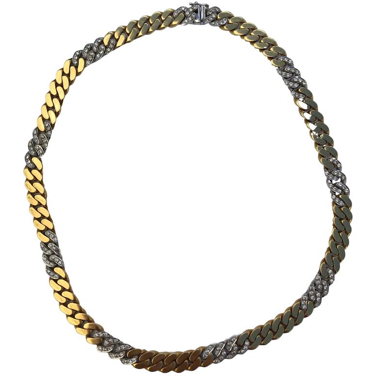 Antique, Estate & Consignment Diamond Curb Link Chain