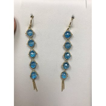 London Blue Topaz Textile Drop Earrings