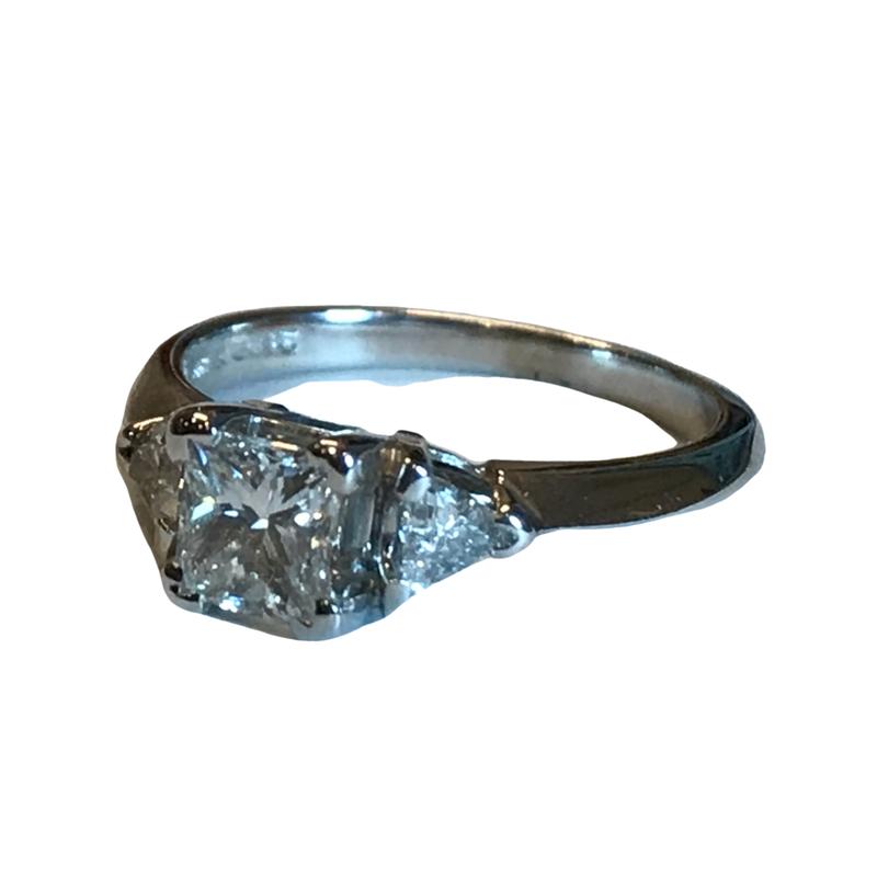 Antique, Estate & Consignment Three Stone Princess Cut Diamond Engagement Ring