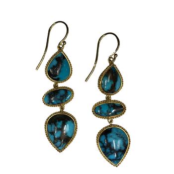 Turquoise Triple Drop Earrings