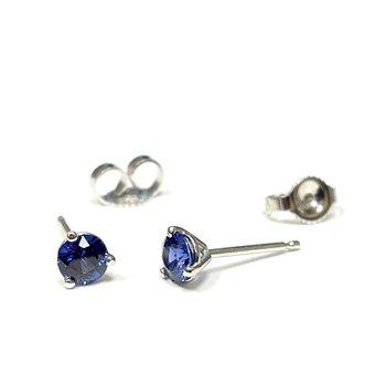 0.50 Carat Sapphire Stud Earrings
