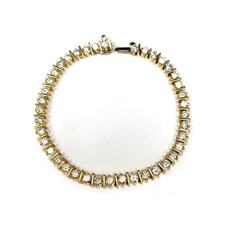 Antique, Estate & Consignment 4.00 Carat Diamond Tennis Bracelet