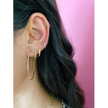 Gold Dome Mini Huggie Earrings
