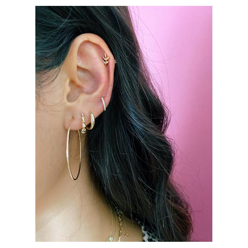 EF Collection Gold Dome Mini Huggie Earrings