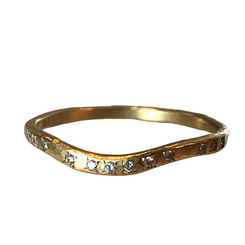 Yasuko Azuma Jewelry Curved Diamond Band
