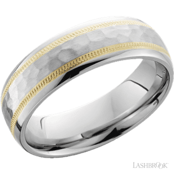 Cobalt Chrome and 14k Yellow Gold Band