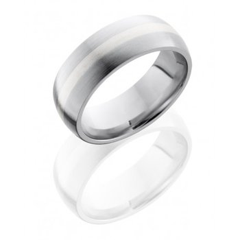 Cobalt Chrome 8mm Band with Sterling Silver