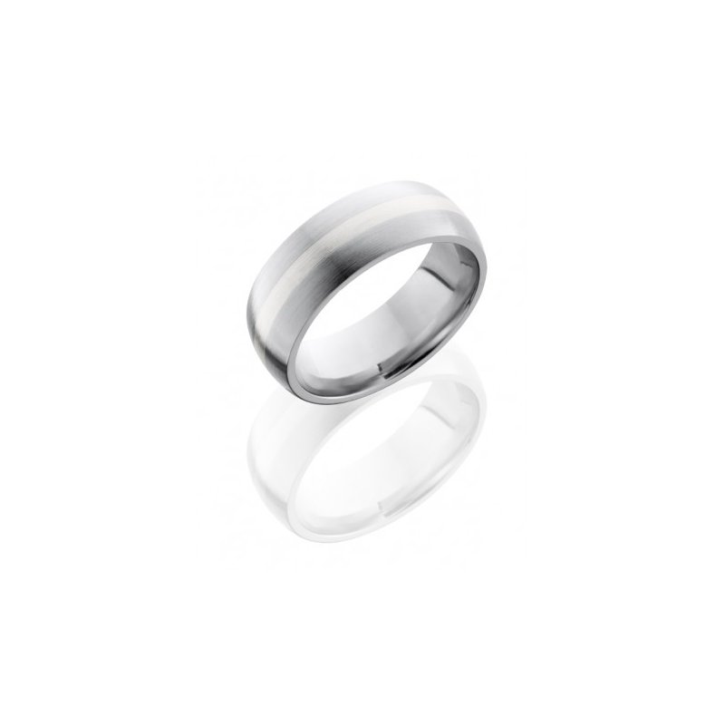 Lashbrook Cobalt Chrome 8mm Band with Sterling Silver