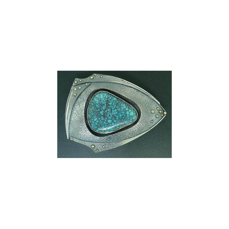 Richard Kimball Turquoise Belt Buckle