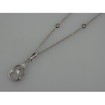 Diamond Drilled Pendant on a Diamond by the Yard Chain