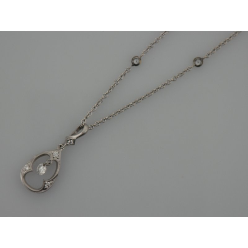 Antique, Estate & Consignment Diamond Drilled Pendant on a Diamond by the Yard Chain