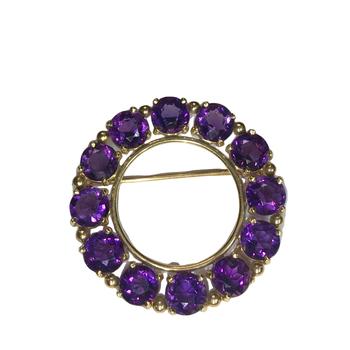 Amethyst Circle Pin