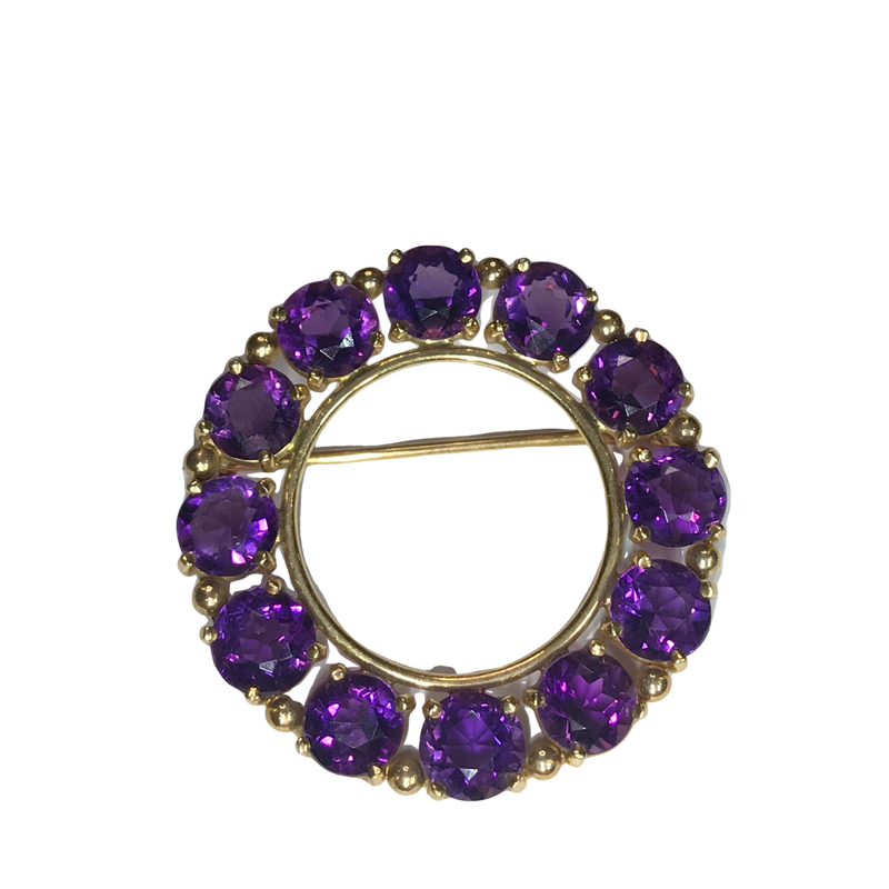 Antique, Estate & Consignment Amethyst Circle Pin