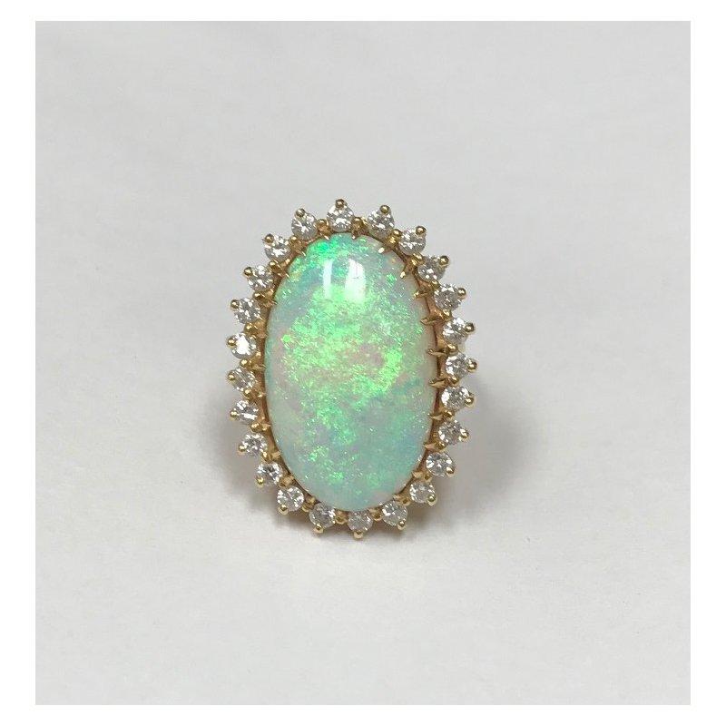 Antique, Estate & Consignment Opal & Diamond Ring