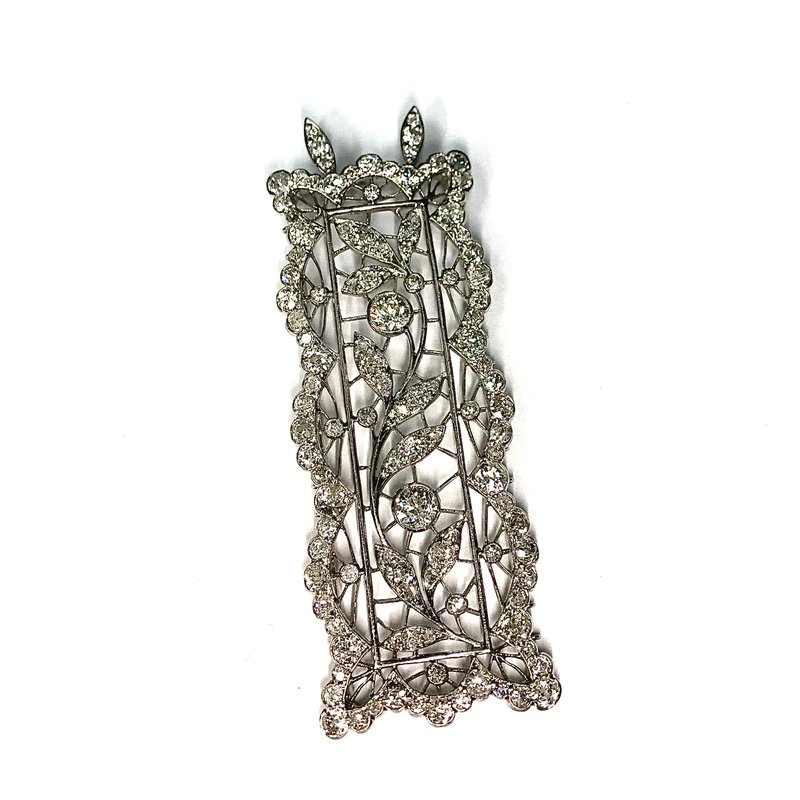 Antique, Estate & Consignment Platinum Diamond Rectangular Pendant