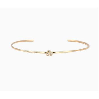 Diamond Cluster Cuff Bracelet