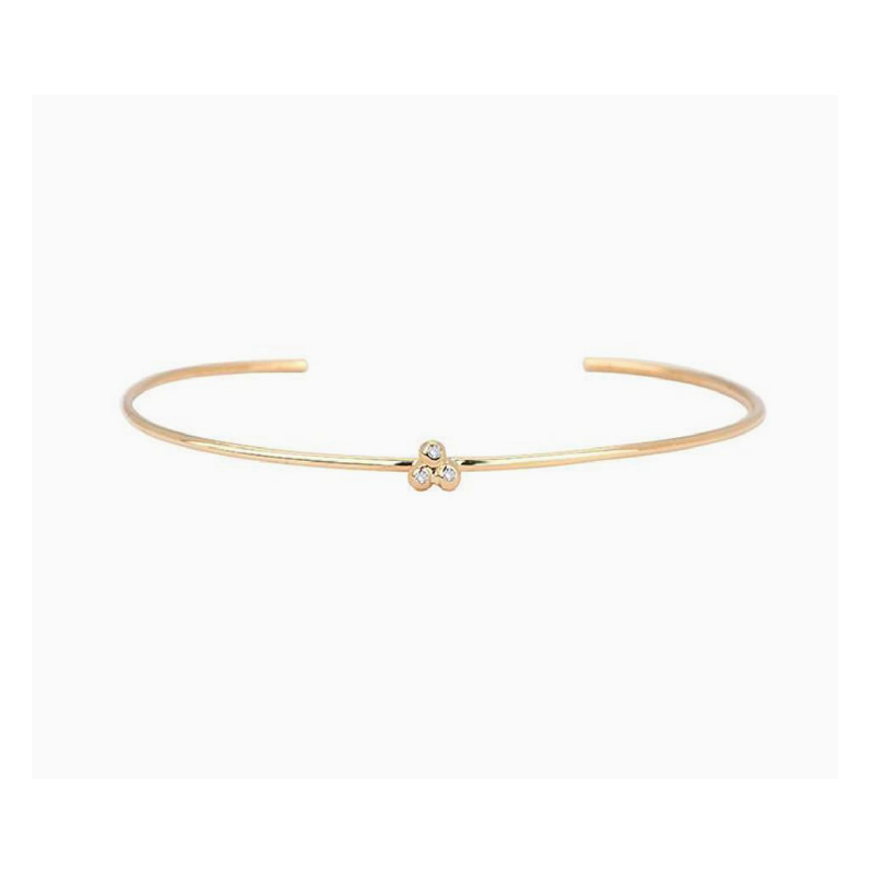 Jennie Kwon Diamond Cluster Cuff Bracelet