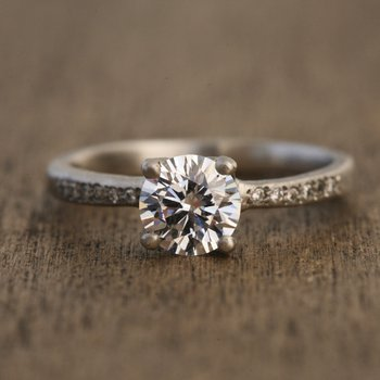 Platinum 1.00 Diamond Engagement Ring
