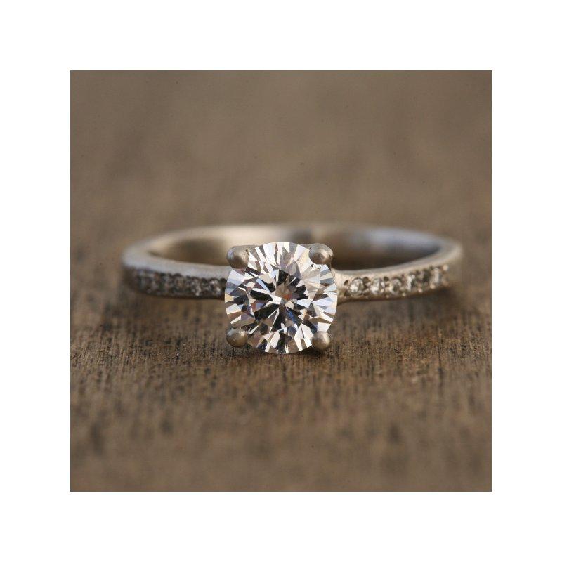 Yasuko Azuma Jewelry Platinum 1.00 Diamond Engagement Ring