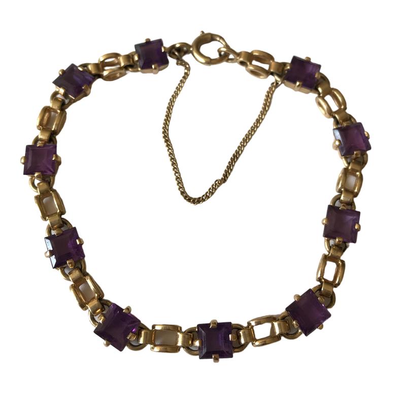 Antique, Estate & Consignment Amethyst Link Bracelet